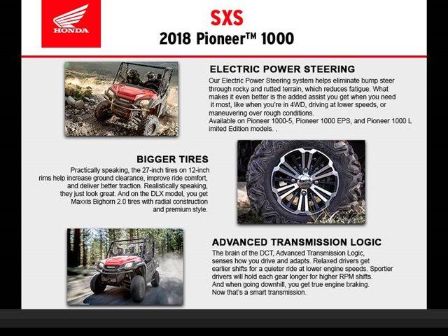 2018 Honda Pioneer 1000 LE at Seminole PowerSports North, Eustis, FL 32726