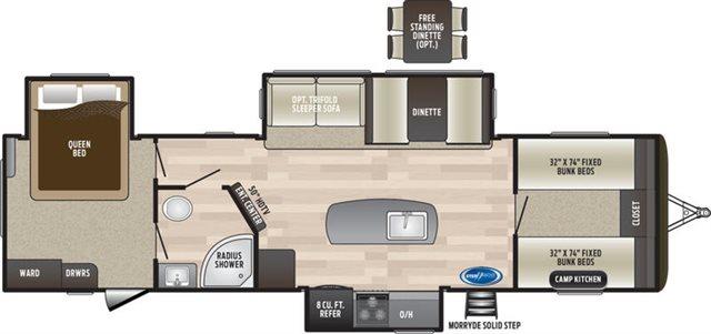2019 Keystone RV Keystone Hideout 32FBTS Bunk Beds at Campers RV Center, Shreveport, LA 71129