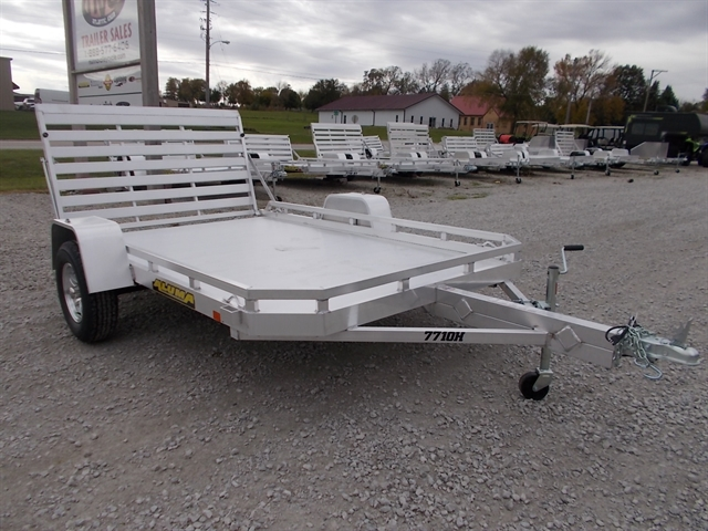 2021 Aluma 7710H Single Heavy Axle Utility Trailer at Nishna Valley Cycle, Atlantic, IA 50022
