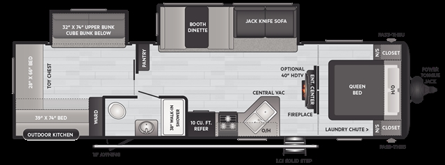 2021 Keystone Hideout (Travel Trailer - East/All) 318BR at Campers RV Center, Shreveport, LA 71129