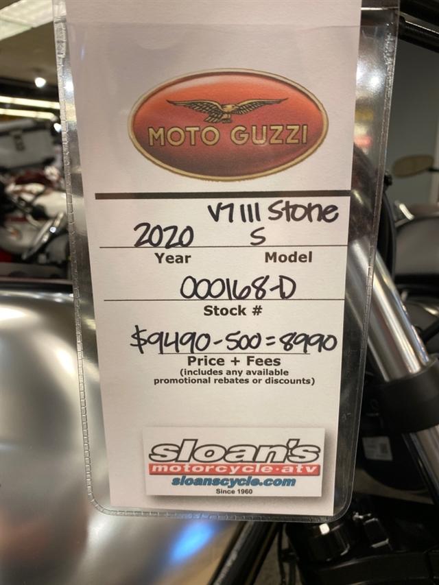 2020 MOTO GUZZI V7 III STONE S V7 III STONE S GRIGIO SPORTIVO at Sloans Motorcycle ATV, Murfreesboro, TN, 37129