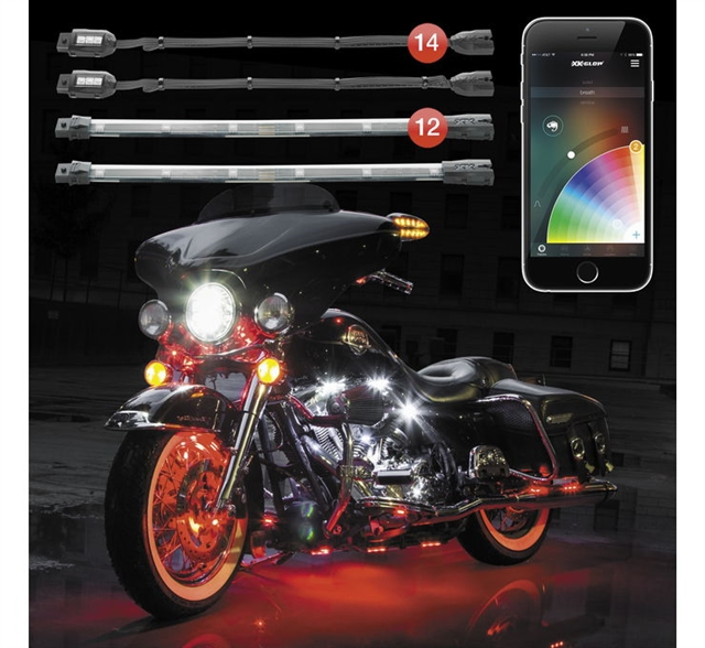 2019 UNIVERSAL XK GLOW CHROME APP CONTROLLED LIGHT KIT at Randy's Cycle, Marengo, IL 60152