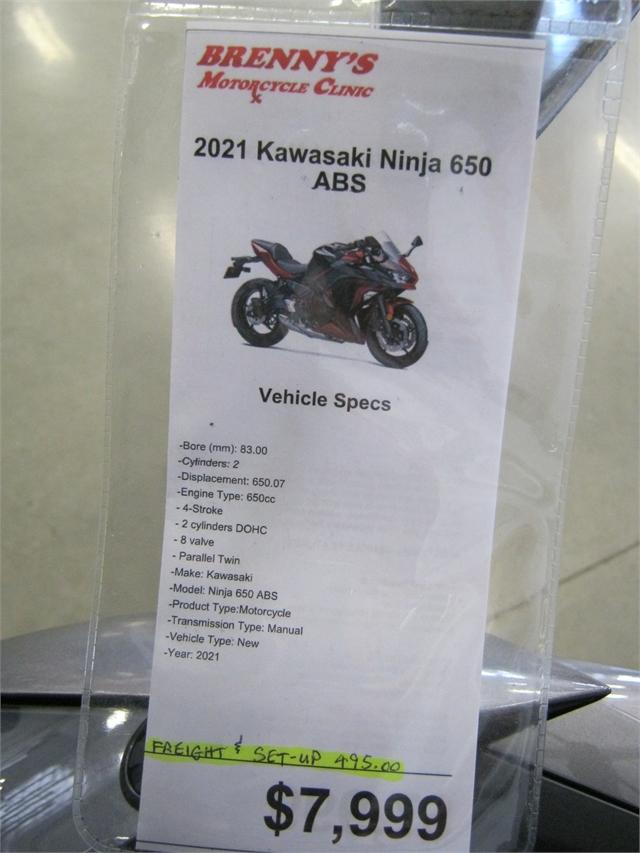 2021 Kawasaki Ninja 650 ABS at Brenny's Motorcycle Clinic, Bettendorf, IA 52722