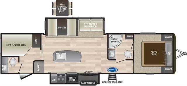 2019 Keystone RV Keystone Hideout 33BHDS Bunk Beds at Campers RV Center, Shreveport, LA 71129
