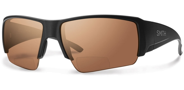 2018 Smith Captain's Choice Bifocal Matte Black w/ Copper Mirror Bifocla at Harsh Outdoors, Eaton, CO 80615
