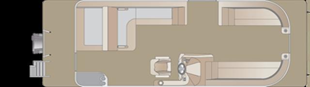 2019 Crest Crest III 220 SLS triple-toon at Fort Fremont Marine, Fremont, WI 54940