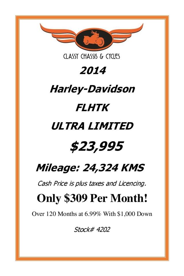 2014 Harley-Davidson Touring at Classy Chassis & Cycles