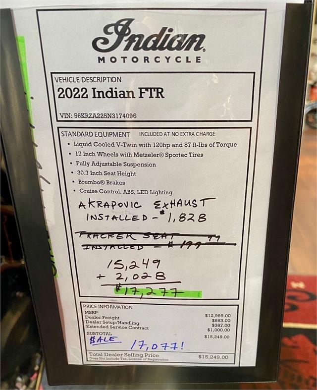 2022 Indian FTR FTR at Shreveport Cycles