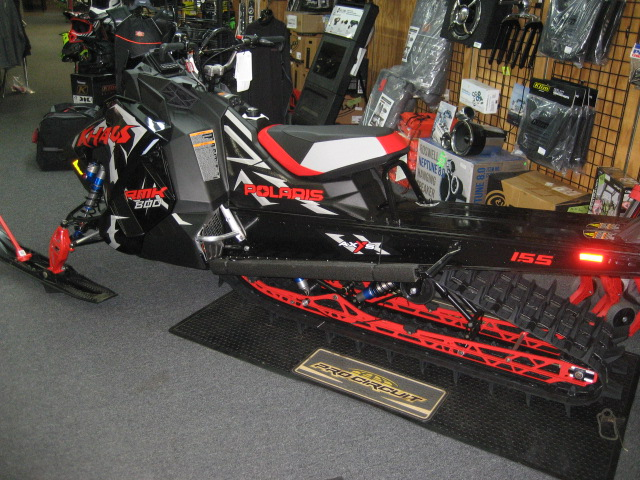 2020 Polaris 800 RMK Khaos-Black Pearl at Fort Fremont Marine