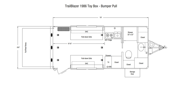 2021 Sundowner Trailers Toy Box TrailBlazer Toy Box at Nishna Valley Cycle, Atlantic, IA 50022