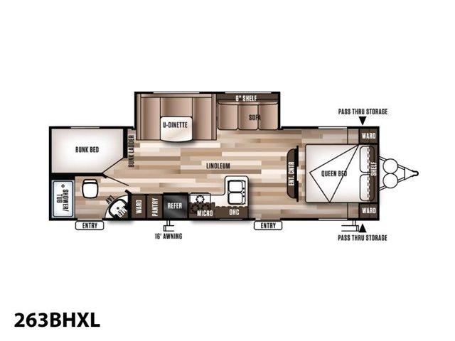 2019 Forest River Wildwood X-Lite 263BHXL Bunk Beds at Campers RV Center, Shreveport, LA 71129