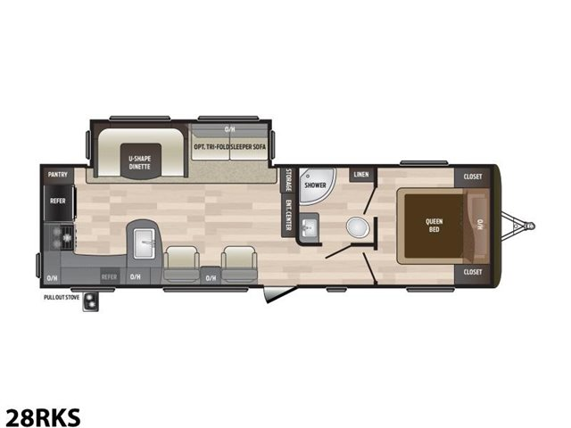2019 Keystone RV Hideout 28RKS Rear Kitchen at Campers RV Center, Shreveport, LA 71129