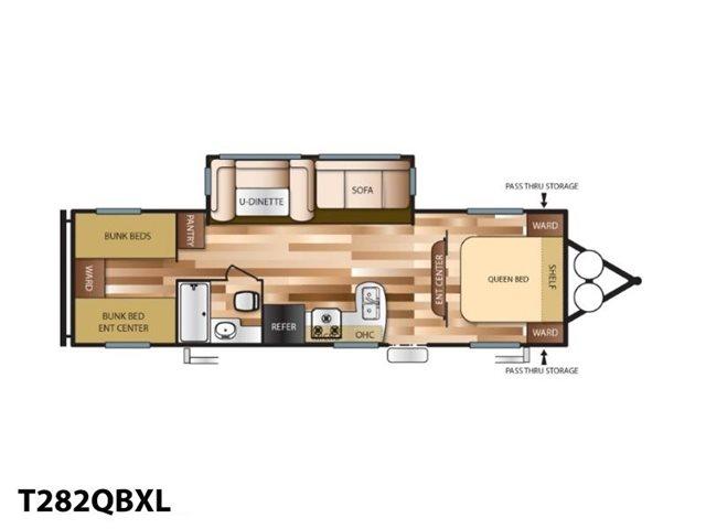 2019 Forest River Wildwood X-Lite T282QBXL Bunk Beds at Campers RV Center, Shreveport, LA 71129