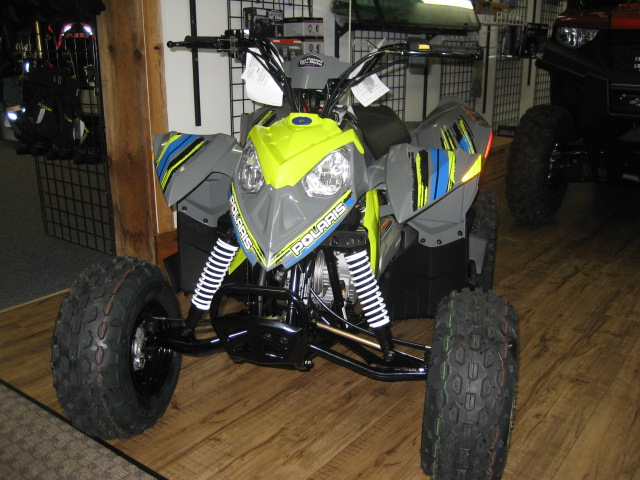 2020 Polaris Outlaw 110 - Grey & Lime at Fort Fremont Marine