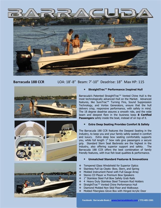 2022 Barracuda 188CCR 188CCR at Baywood Marina