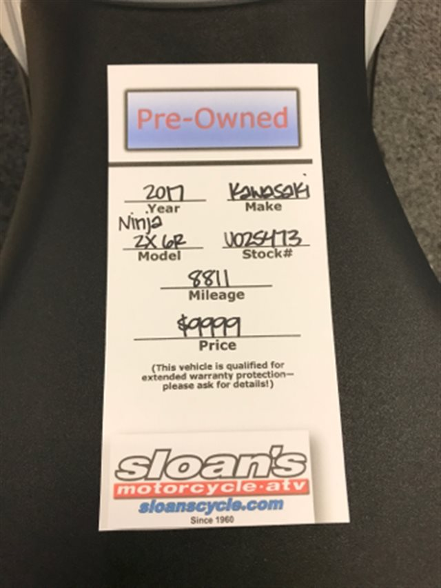 2017 Kawasaki Ninja ZX-6R Base at Sloan's Motorcycle, Murfreesboro, TN, 37129
