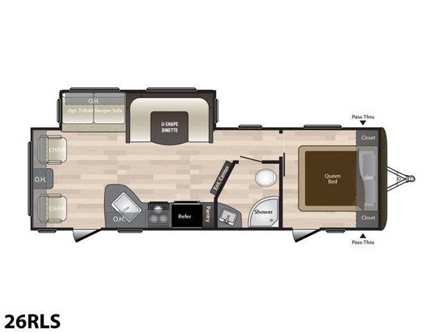 2019 Keystone RV Hideout 26RLS at Campers RV Center, Shreveport, LA 71129