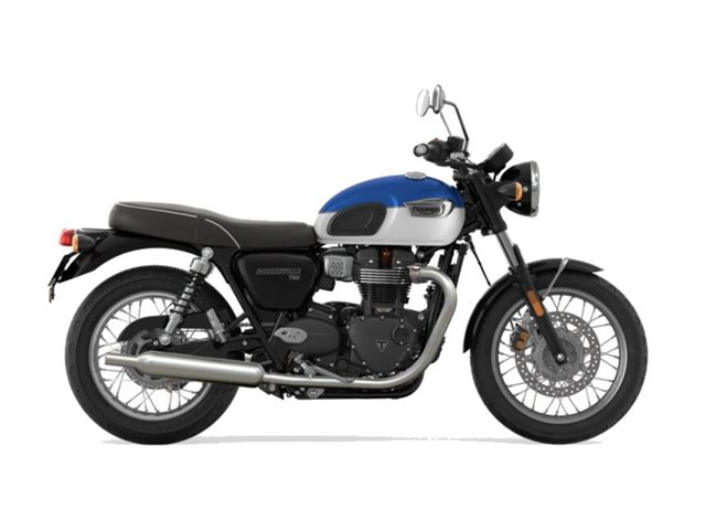 2022 Triumph Bonneville T100 Lucerne Blue/Fusion White Base at Martin Moto