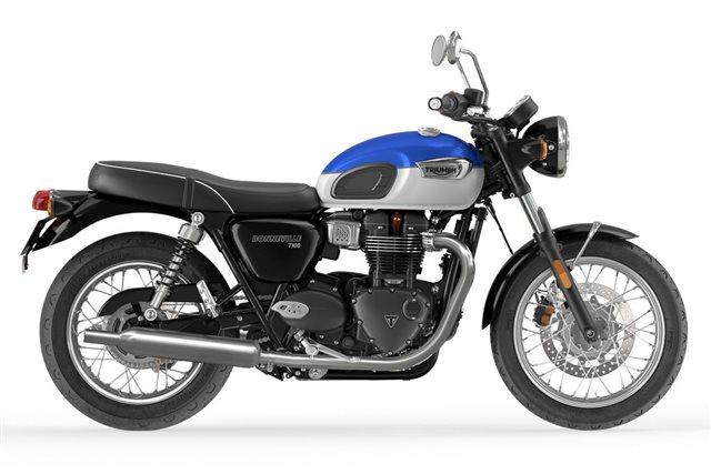 2022 Triumph Bonneville T100 Lucerne Blue Fusion White Base at Martin Moto
