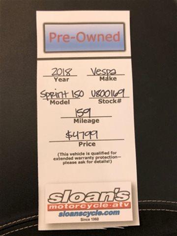 2018 Vespa SPRINT 150 S SPRINT 150 S at Sloans Motorcycle ATV, Murfreesboro, TN, 37129
