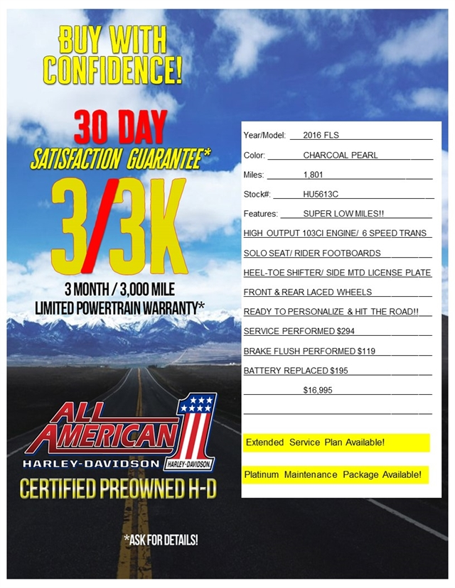 2016 Harley-Davidson Softail Slim at All American Harley-Davidson, Hughesville, MD 20637