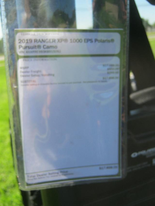 2019 Polaris Ranger XP 1000 EPS Premium at Brenny's Motorcycle Clinic, Bettendorf, IA 52722