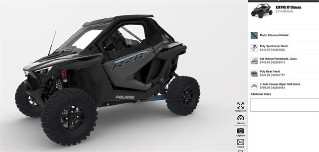 2021 Polaris RZR Pro XP Ultimate at Fort Fremont Marine