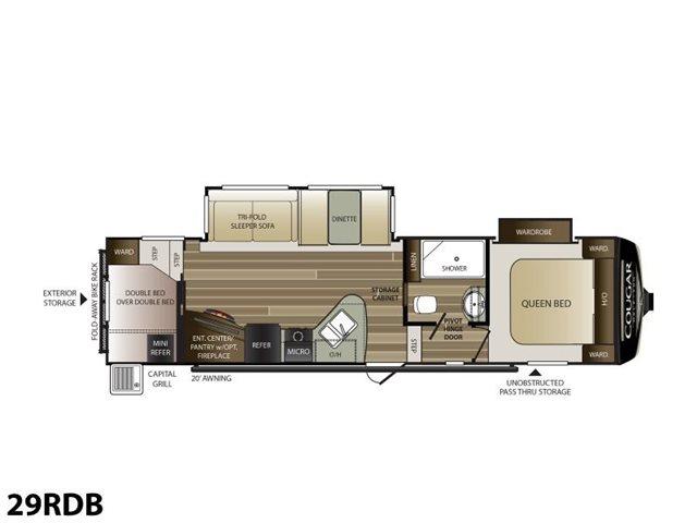 2019 Keystone RV Cougar Half-Ton 29RDB Bunk Beds at Campers RV Center, Shreveport, LA 71129