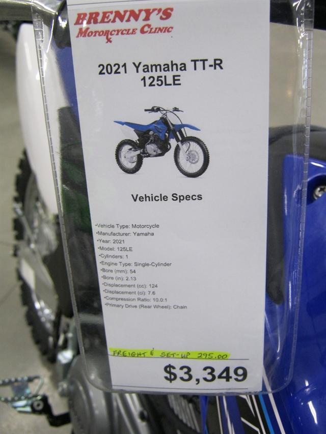 2021 Yamaha TT-R 125LE at Brenny's Motorcycle Clinic, Bettendorf, IA 52722