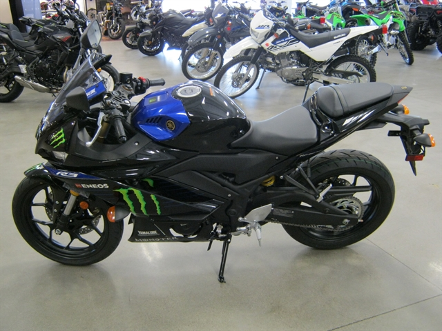 2021 Yamaha YZF-R3 ABS Monster Energy MotoGP Edition at Brenny's Motorcycle Clinic, Bettendorf, IA 52722