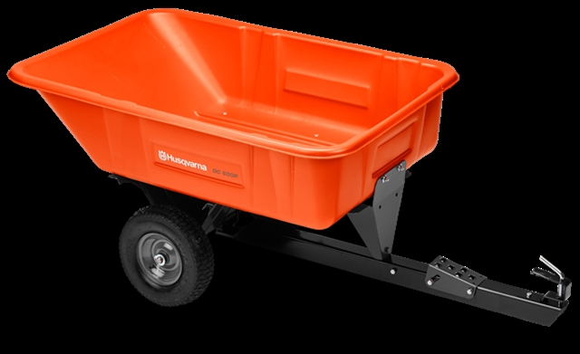 2017 Husqvarna 10cu ft Poly Swivel Dump Cart at Harsh Outdoors, Eaton, CO 80615