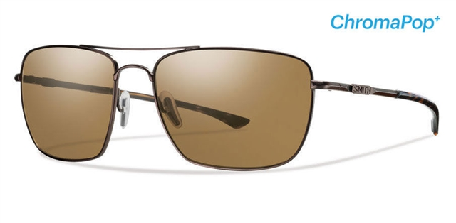 2018 Smith Nomad Matte Brown w/ CP Plus Brown Polarized at Harsh Outdoors, Eaton, CO 80615