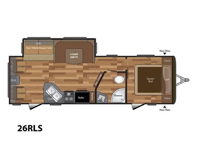 2018 Keystone RV Hideout 26RLS Rear Living at Campers RV Center, Shreveport, LA 71129