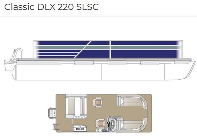 2022 Crest Classic DLX 220 SLSC at Fort Fremont Marine