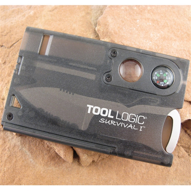 2019 SOG Tool Logic Survival Card Charcoal at Harsh Outdoors, Eaton, CO 80615