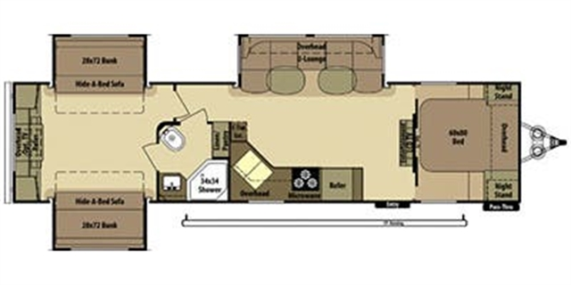 2013 Open Range Mesa Ridge MR 309 BHS at Campers RV Center, Shreveport, LA 71129