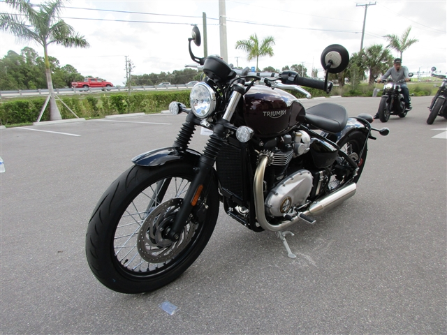 2019 Triumph Bonneville Bobber Morello Red at Stu's Motorcycle of Florida