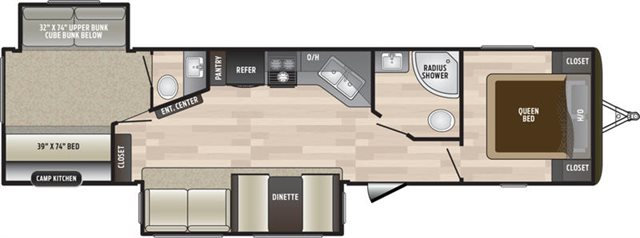 2019 Keystone RV Hideout 338LHS Bunk Beds at Campers RV Center, Shreveport, LA 71129