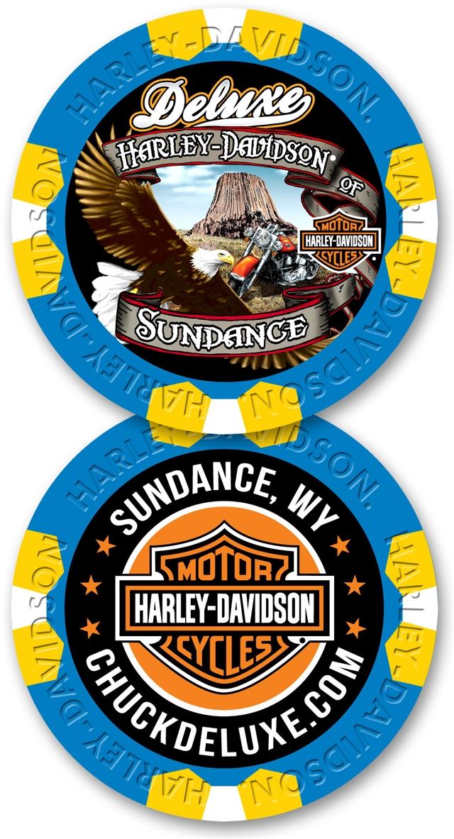 2021 Custom Poker Chips at Deluxe Harley Davidson