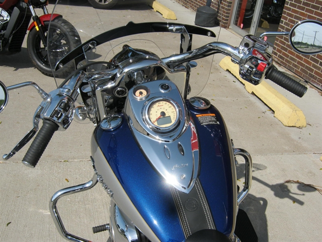 2017 Indian Motorcycle Springfield Blue Sapphire over Star Silver at Brenny's Motorcycle Clinic, Bettendorf, IA 52722