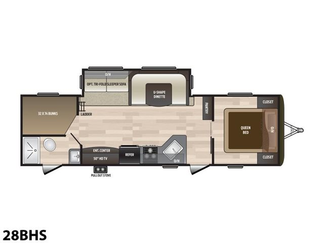 2019 Keystone RV Hideout 28BHS at Campers RV Center, Shreveport, LA 71129