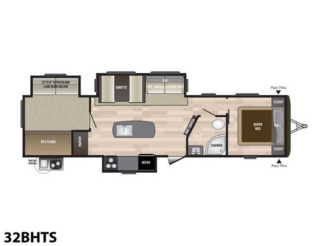 2019 Keystone RV Hideout 32BHTS Bunk Beds at Campers RV Center, Shreveport, LA 71129