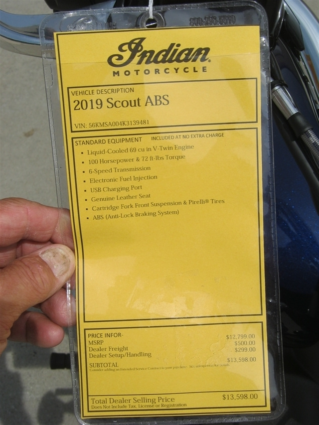 2019 Indian Motorcycle Scout ABS at Brenny's Motorcycle Clinic, Bettendorf, IA 52722