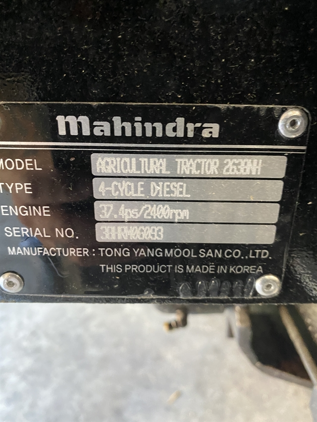 2019 Mahindra 2600 Series 2638 HST at Thornton's Motorcycle - Versailles, IN
