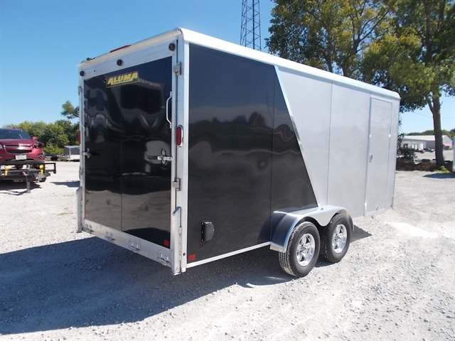 2021 Aluma Enclosed Tandem Axle Trailers AE716TA/R at Nishna Valley Cycle, Atlantic, IA 50022