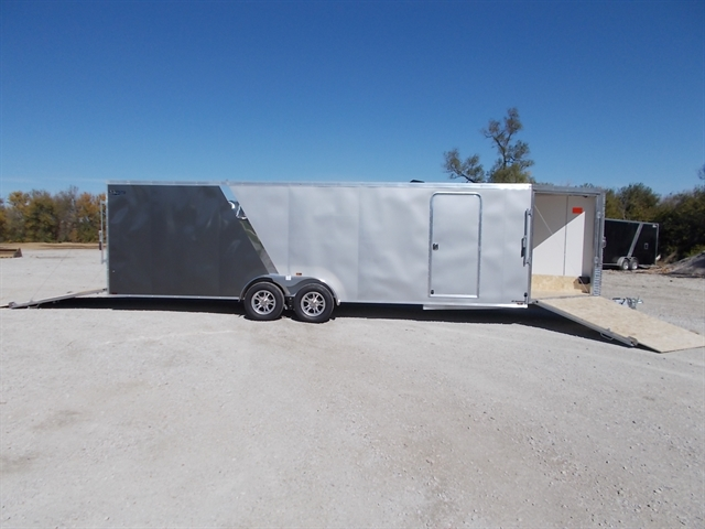 2021 Lightning Trailers 7' Wide Flat Top Enclosed Snow Trailer LTFES724TA2 at Nishna Valley Cycle, Atlantic, IA 50022