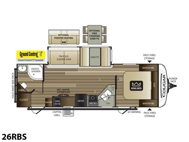 2019 Keystone RV Cougar Half-Ton 26RBS at Campers RV Center, Shreveport, LA 71129