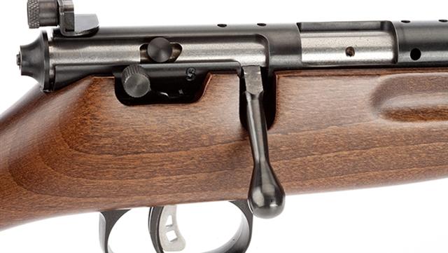 2018 Savage Arms RASCAL HARDWOOD Youth Single-Shot 22LR Rifle at Harsh Outdoors, Eaton, CO 80615