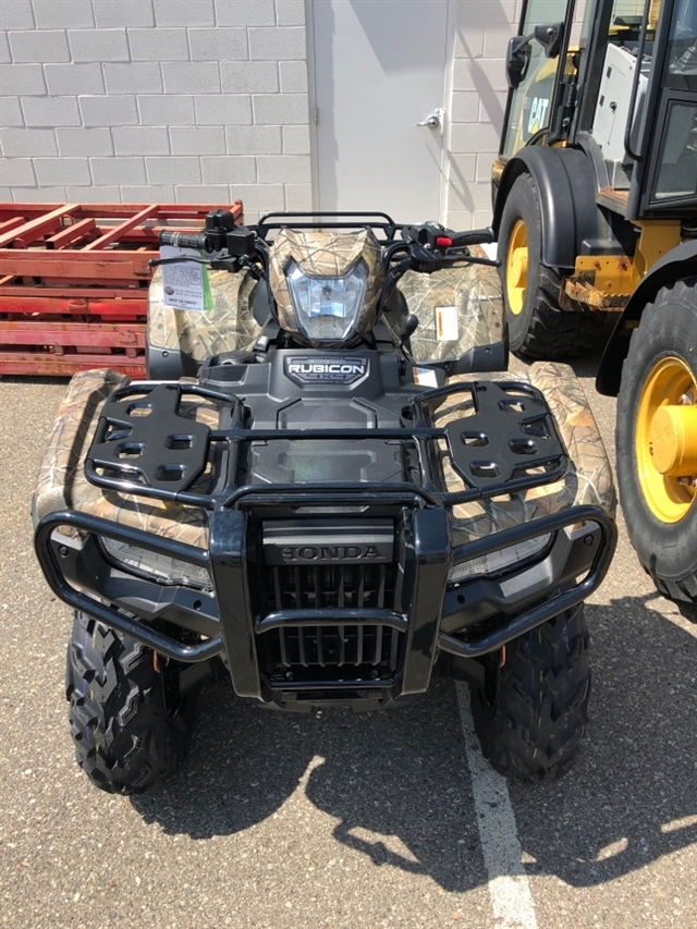 2020 Honda RUBICON 520 4X4 AUTO DLX 4x4 Automatic DCT EPS Deluxe at Genthe Honda Powersports, Southgate, MI 48195