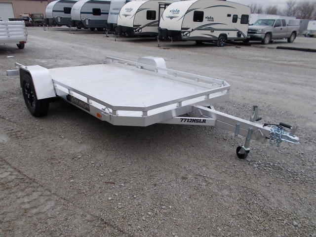 2021 Aluma Single Heavy Axle Utility Trailers 7712H at Nishna Valley Cycle, Atlantic, IA 50022